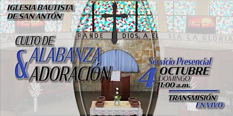 Culto de Alabanza y Adoración 4 de octubre de 2020 tickets