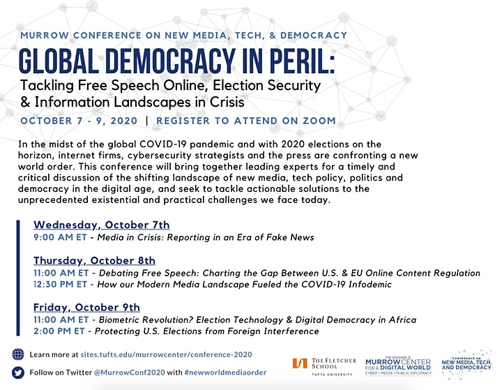 (Virtual) Murrow Conference on New Media, Tech, and Democracy image