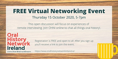 OHNI Virtual Networking Event - Experiences of Remote Interviewing tickets