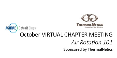 October  20th ASHRAE Virtual Event - Sponsored by ThermalNetics tickets