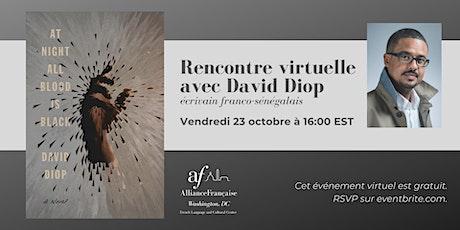 Rencontre virtuelle avec David Diop billets