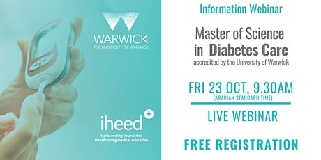 MSc Diabetes: University of Warwick - Info Webinar - MENA Oct 2020 tickets