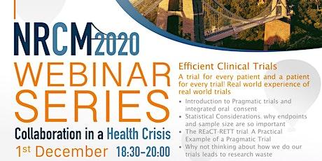 NRCM presents Efficient Clinical Trials tickets
