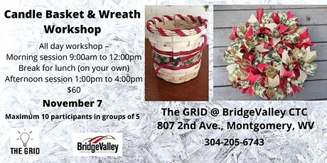 CANDLE BASKET AND WREATH WORKSHOP tickets
