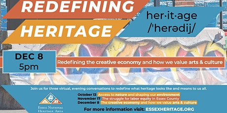 Redefining Heritage: The Creative Economy and how we value Arts and Culture tickets