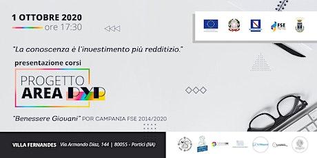Presentazione corsi Progetto Area PYP a Villa Fernandes biglietti