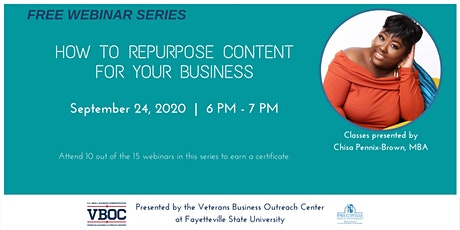 How to Repurpose Content for Your Business Webinar tickets