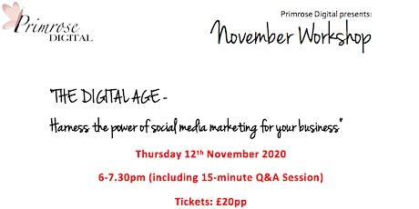 Primrose Digital November Workshop tickets