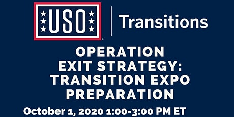 Operation Exit Strategy: Transition Expo Preparation (Part 1) tickets