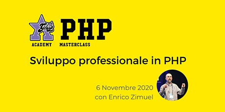 Sviluppo professionale in PHP [GrUSP Academy - PHP Masterclass] tickets