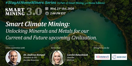 Smart Climate Mining: Minerals & Metals for Current & Future Civilizations tickets