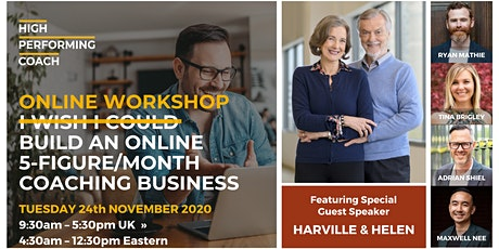 Build an ONLINE 5-figure/month Coaching Business - (Online Workshop) Ads tickets