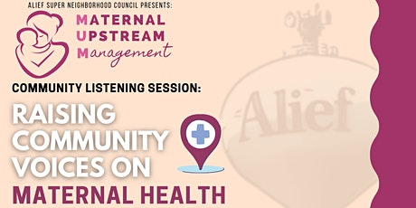 Alief Listening Session: Raising Community Voices on Maternal Health tickets