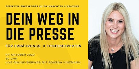 Dein Weg in die Presse: Für Fitness- & Ernährungsexperten Tickets