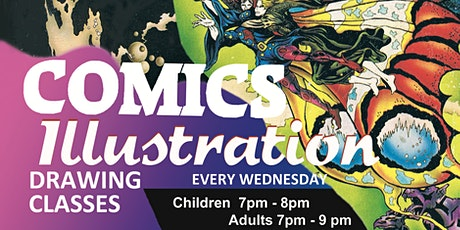 Comics and Illustration Drawing Classes tickets