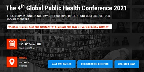 4th Global Public Health Conference 2021 – (GlobeHeal 2021) tickets