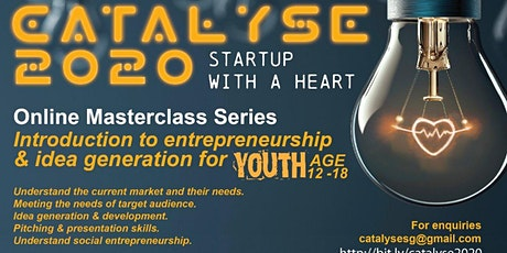 CATALYSE 2020; Introduction to Entrepreneurship and Idea Generation tickets