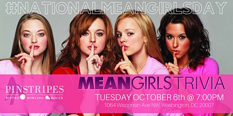 Happy Mean Girls Day Trivia Celebration at Pinstripes Georgetown tickets