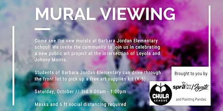 Community Murals Viewing at Barbara Jordan Elementary tickets
