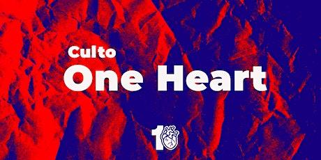 Culto One Heart //  04/10/2020 - Culto de Jovens  17:00h ingressos