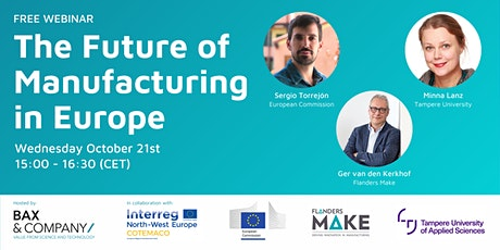 WEBINAR: The Future of Manufacturing in Europe tickets