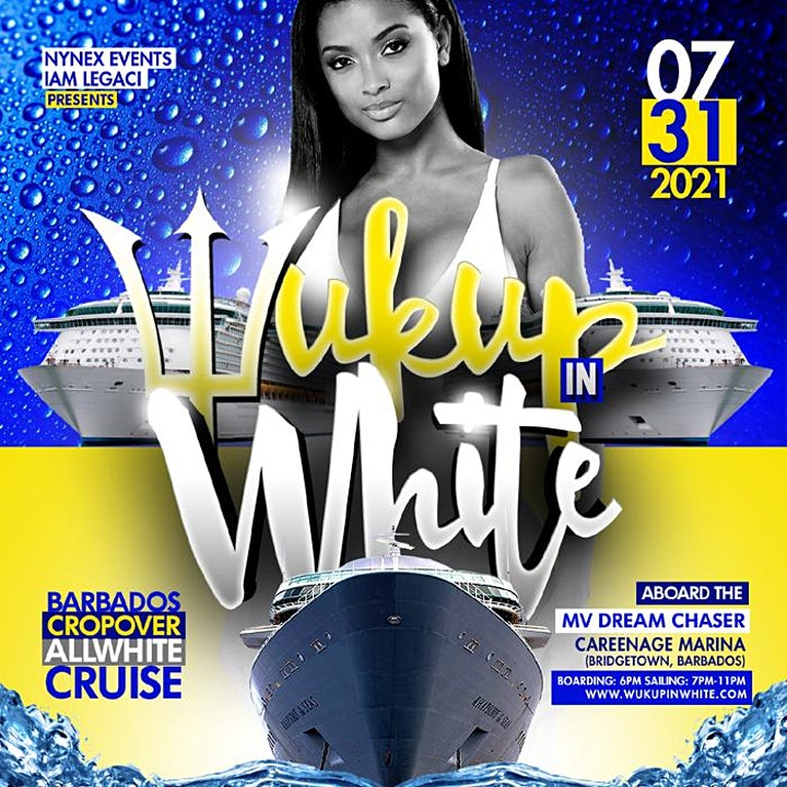 WUK UP IN WHITE The Annual All White Boat Ride · Barbados Crop Over 2021 image