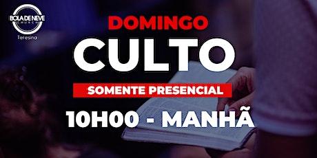 Culto Presencial - Domingo - MANHÃ - 04.10.2020 ingressos