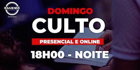 Culto Presencial - Domingo - NOITE -04.10.2020 ingressos