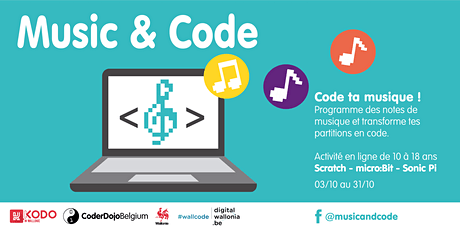 Music & Code - 25 Octobre - Session Scratch /Sonic-Pi 13 ans et + tickets
