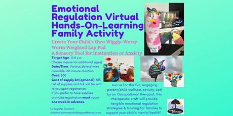"Create your Own ""Wiggly~Worry Worm""-Therapeutic Activity w/ OT-Virtual tickets"