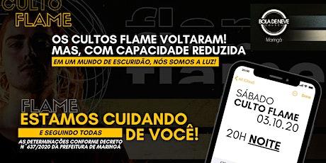 FLAME SÁBADO (03/10) 20h00 ingressos