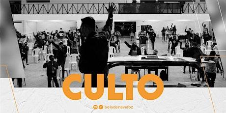 CULTO DOMINGO 04/10 NOITE 19H ingressos