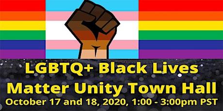 LGBTQ+ Black Lives Matter Unity Town Hall tickets