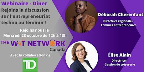 Dîner animé: Rejoins la discussion sur l'entrepreneuriat au féminin tickets