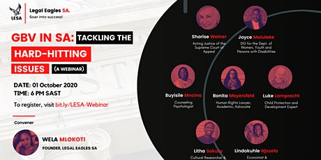GBV in SA: Tackling the Hard-Hitting Issues (A Webinar) tickets