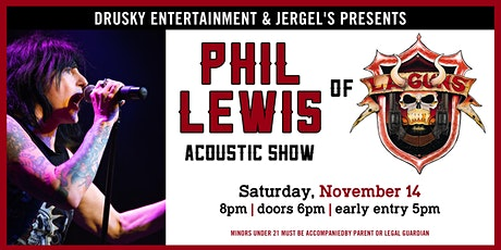 Phil Lewis (of L.A. Guns) Acoustic tickets