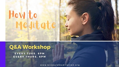 How to Meditate Q&A tickets