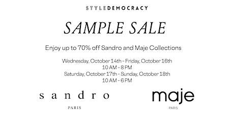 Sandro & Maje Sample Sale tickets