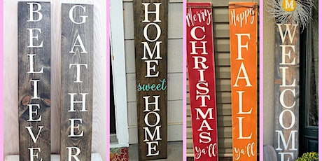 Virtual Make Your Own Porch Sign Class - Virtual Craft Class tickets