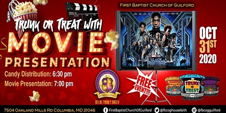 FBCOG Trunk or Treat: Drive-In Movie tickets