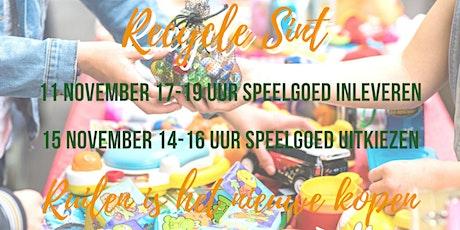 Recycle Sint - Ter Aar - Speelgoed ruilmarkt - speelgoed uitkiezen tickets