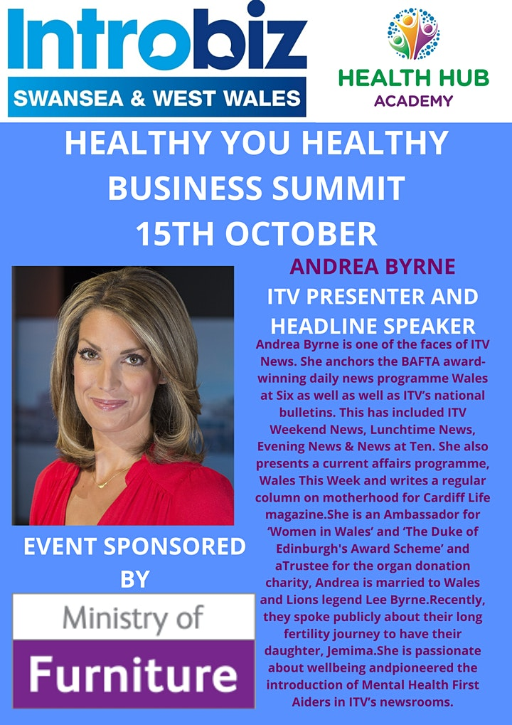 Healthy You Healthy Business Wellbeing Summit image