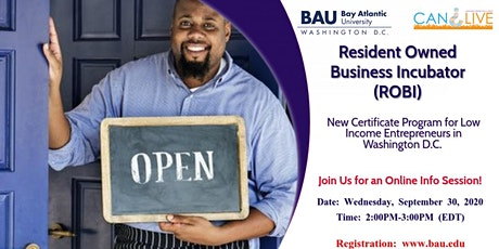 New Program for Low Income Entrepreneurs in Washington D.C. tickets
