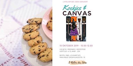 Koekjes & Canvas - Schilderworkshop kinderen - Schattige heks tickets