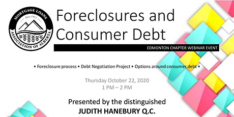 *MLAA* The Foreclosure Process & Debt Options with Judith Haneburry Q.C. tickets
