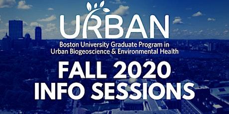 BU URBAN Zoom Info Sessions - Fall 2020 tickets