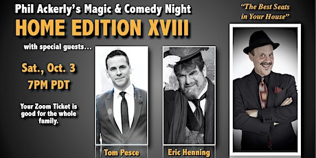 Magic & Comedy Night - Home Edition XVIII tickets