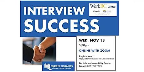 Interview Success Online Workshop - Nov 18 at 5:30 pm tickets