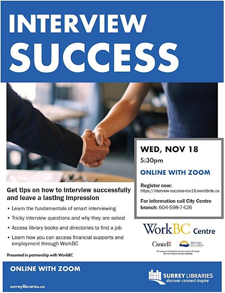 Interview Success Online Workshop - Nov 18 at 5:30 pm image
