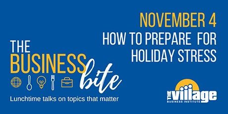 How to Prepare for Holiday Stress tickets